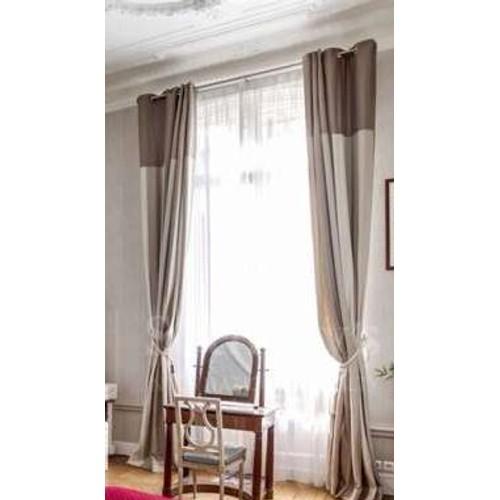 Superbes grands doubles rideaux en lin achat et vente - Double rideaux en lin ...