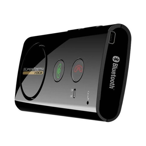 supertooth voice kit mains libres bluetooth pour voiture. Black Bedroom Furniture Sets. Home Design Ideas