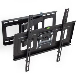 support mural tv orientable et inclinable pour crans plats de 32 55 81 cm 140 cm. Black Bedroom Furniture Sets. Home Design Ideas