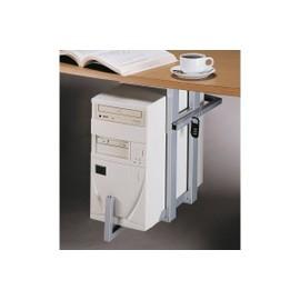 Support d unite centrale en metal se fixant sous un plateau de bureau deux points de fixation - Support unite centrale sous bureau ...