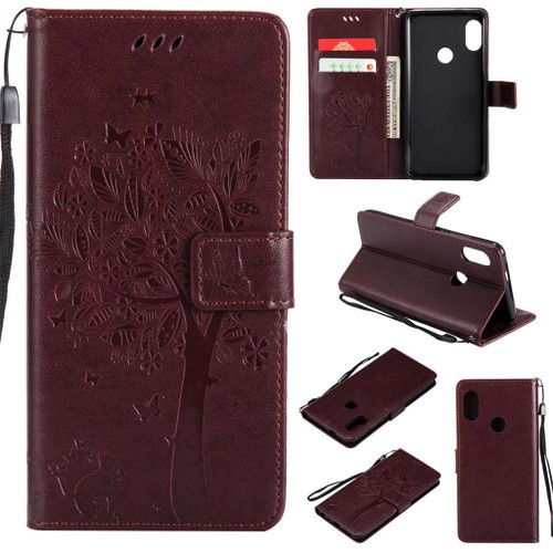 swajinxi-etui-a-rabat-pu -cuir-housse-pour-xiaomi-redmi-note-5-pro-5-99-34-coque-de-protection-arbre-pattern-button-housse- flip-support-stand-function-case- ...