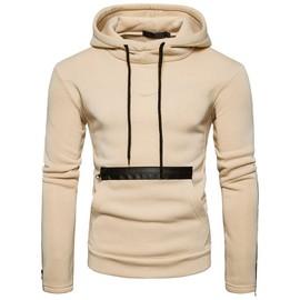 5aea92f26a8 Sweatshirt Homme À Capuche Couleur Unie Sweat Pour Homme A La Mode Pullover  Personnalité De Grande ...