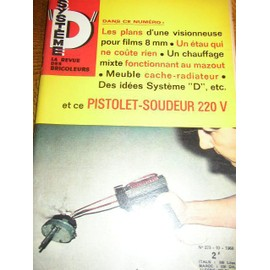 System D N 273 Pistolet Soudeur 220v Plans Visionneuse Super 8 Meubles Radiateur