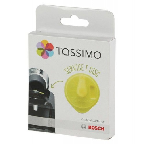 t disc de service jaune avec code barres cafetiere tassimo. Black Bedroom Furniture Sets. Home Design Ideas