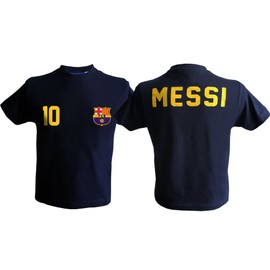 T-Shirt Bar�a Lionel Messi - N� 10 - Collection Officielle Fc Barcelone - Fc Barcelona - Blason Maillot Football - Taille Enfant Gar�on