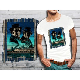 Shirt T Collection Films Brothers Cultes Blues Blanc Homme 10 Tc315lJuFK