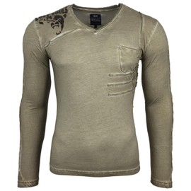 803a1c6be7b6 t-shirt-col-v-manches-longues-homme -fashion-sb-10104-mode-pull-tigre-1044272317 ML.jpg