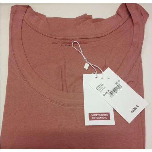 T shirt comptoir des cotonniers le vestiaire coton rose neuf - Code avantage comptoir des cotonniers ...