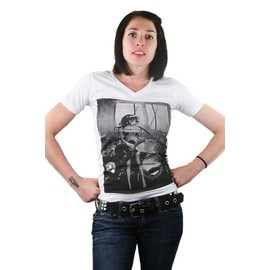 t shirt femme cintr amy winehouse sexy fashion noir et blanc swag rok. Black Bedroom Furniture Sets. Home Design Ideas