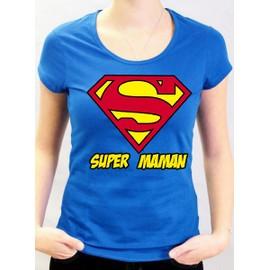 t shirt f te des m res super maman superman achat et. Black Bedroom Furniture Sets. Home Design Ideas