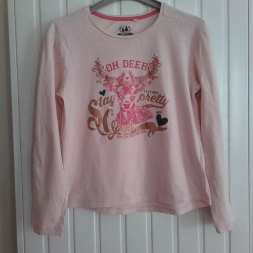 2210e91a381e T-Shirt Fille Taille 11 - 12 Ans Rose Pale