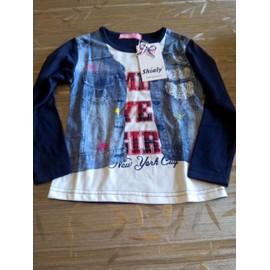 T-Shirt Girl 4 Ans Blanc