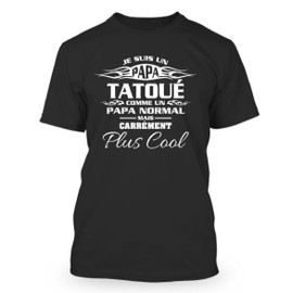 t shirt homme je suis un papa tatou achat et vente. Black Bedroom Furniture Sets. Home Design Ideas