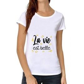 Femme Premium Est Shirt La Belle T Xxl Vie Rakuten Blanc O8Pn0Xkw