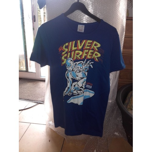 T shirt surfer d'argent