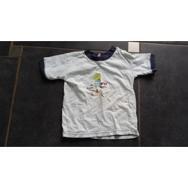 T-Shirt Manches Courtes Coton 2 Ans Bleu