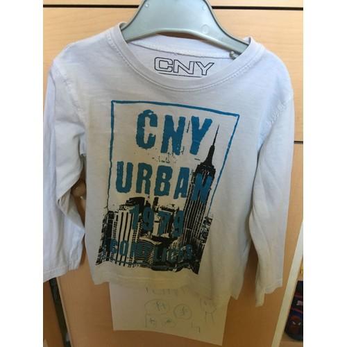3b414f86879e2 T-Shirt Manches Longues Blanc/Bleu Complices Taille 4 Ans - Rakuten