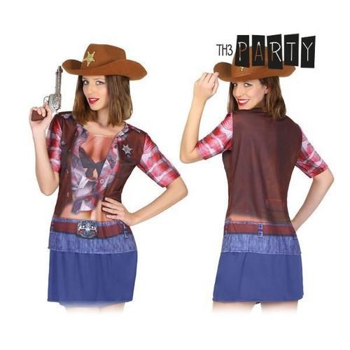 T Shirt Pour Femme Cow Girl Déguisement Cow Boy Pas Cher Costume Femme