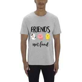 Not Homme Food Vegan Xxl Premium Shirt Friends Gris T 3jLR54A