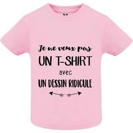 T Shirt Premium Je Ne Veux Pas Un Tshirt Avec Un Dessin Ridicule