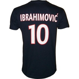 T-Shirt Psg Zlatan Ibrahimovic N�10 - Collection Officielle Paris Saint Germain - Blason Maillot - Tee Shirt Taille Adulte Homme