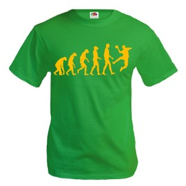 T-Shirt The Evolution Of Handball-Kellygreen-Neonorange - Rakuten eda0558a5d81