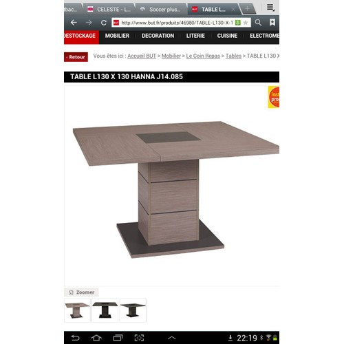 Table a manger hanna pas cher achat vente priceminister for Table hanna