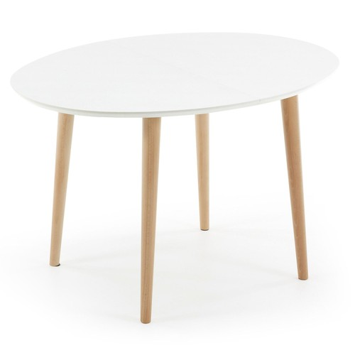 Table manger oqui extensible 120 200 cm blanc achat for Table 120 cm extensible