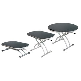 Extensible Rondo Table Relevable Noir Ronde Basse NwkX80PnO