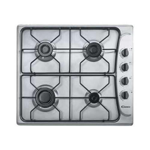 énorme réduction 1522f a5d09 Candy P-Line PL 40 ASX - Table de cuisson au gaz - 4 plaques de cuisson -  Niche - largeur : 56 cm - profondeur : 48 cm - acier inoxydable