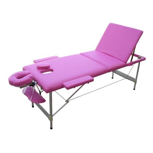 table de massage w3s rose 3 zones plans pliante portable en aluminium esth tique pilation. Black Bedroom Furniture Sets. Home Design Ideas