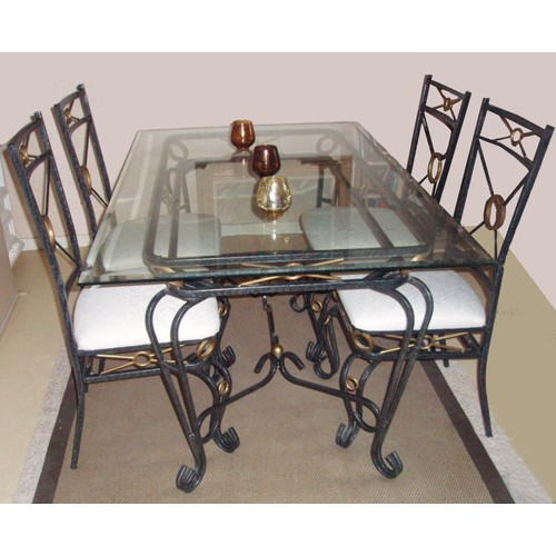 table fer forg et verre beautiful console reva lxpxhcm en fer forg verre with table fer forg et. Black Bedroom Furniture Sets. Home Design Ideas