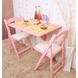 table murale rabattable table de cuisine pliante table bois table de repas 75 60cm rose. Black Bedroom Furniture Sets. Home Design Ideas