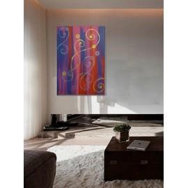 Tableau   70 X 50 Cm   Peinture Moderne Originale Sur Toile   Art  Contemporain Design Abstrait   Collection Symphony : Mixdown