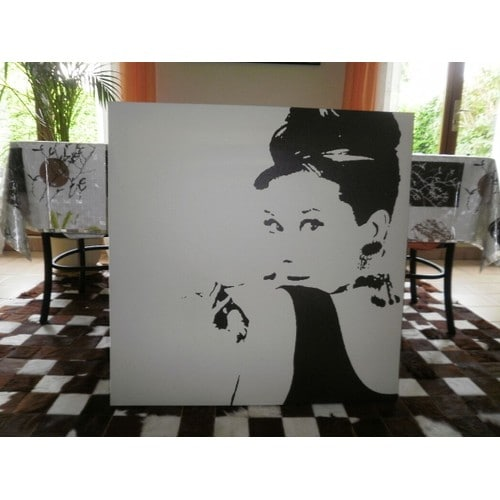 tableau audrey hepburn achat vente de d coration rakuten. Black Bedroom Furniture Sets. Home Design Ideas