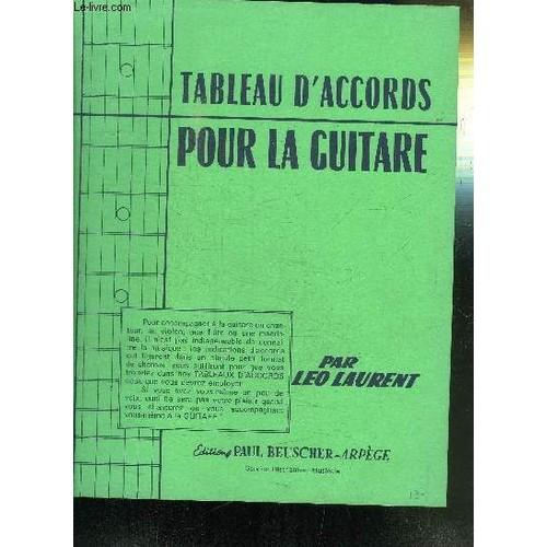 tableau d accords guitare pdf