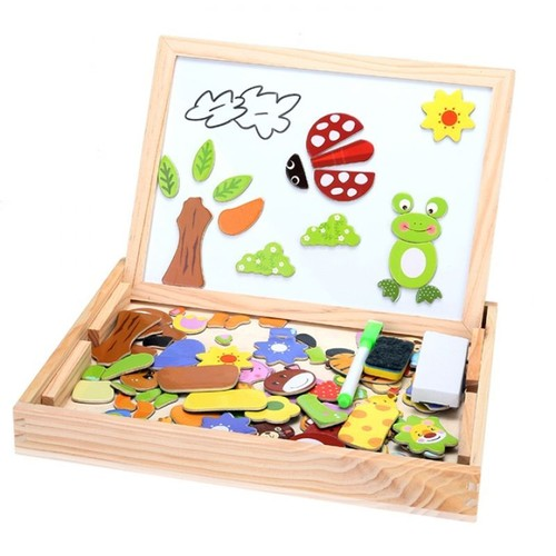 Tableau de puzzle avec chevalet dessin de griffonnage - Puzzle dessin ...