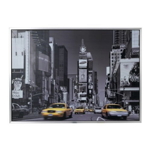 tableau ikea new york taxi jaune achat et vente priceminister rakuten. Black Bedroom Furniture Sets. Home Design Ideas