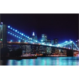 tableau led lumineux pont manatthan new york achat et vente. Black Bedroom Furniture Sets. Home Design Ideas