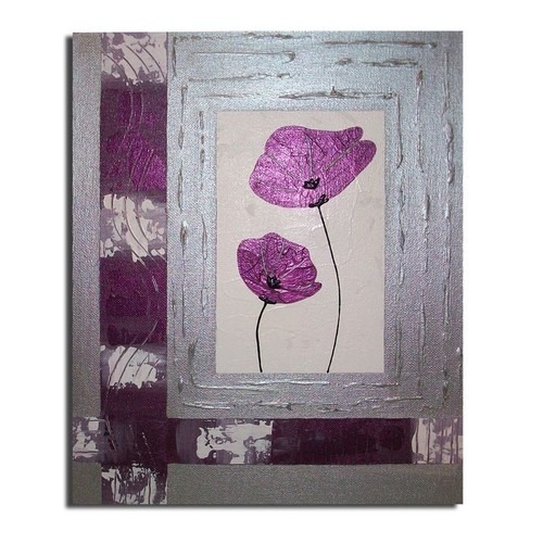 pin tableau peinture fleurs prune mauve art primacr a on pinterest. Black Bedroom Furniture Sets. Home Design Ideas