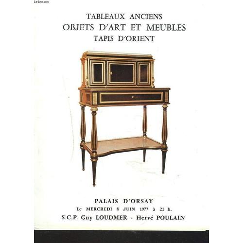 tableaux et dessins anciens objets d 39 art et d 39 ameublement sieges et meubles anciens tapis d. Black Bedroom Furniture Sets. Home Design Ideas
