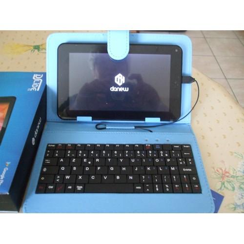 tablette dslide 711 danew 8 go cran 7 wi fi bleu housse avec clavier int gr. Black Bedroom Furniture Sets. Home Design Ideas