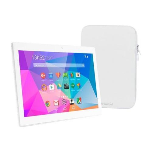 tablette polaroid pure 16 go 10 1 pouces blanc pas cher. Black Bedroom Furniture Sets. Home Design Ideas