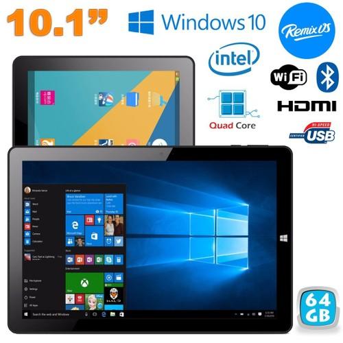 tablette windows 10 remix os 2 0 dual boot 4go ram 10 1 pouces 64go. Black Bedroom Furniture Sets. Home Design Ideas