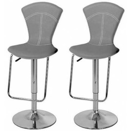 tabouret de bar gris x 2 vegas pas cher achat vente priceminister. Black Bedroom Furniture Sets. Home Design Ideas