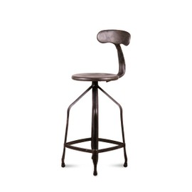 tabouret de bar hauteur r glable marx couleur noir vintage. Black Bedroom Furniture Sets. Home Design Ideas
