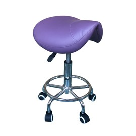 Tabouret Ergonomique A47p Violet A Roulettes Table Chaise Massage Bureau Kine