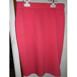 93e026c5e439d1 Tailleur veste+jupe rose fuchsia - Extenzo - taille 38