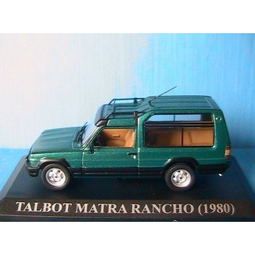 talbot matra rancho 1980 vert ixo 1 43 altaya green simca verde grun. Black Bedroom Furniture Sets. Home Design Ideas