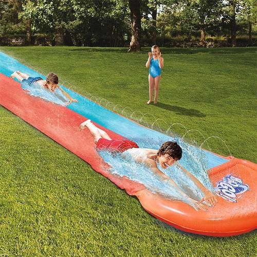 tapis de glisse g ant double toboggan double eau piscine jeu eau plein air. Black Bedroom Furniture Sets. Home Design Ideas